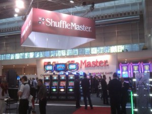 Shuffle Master show stand