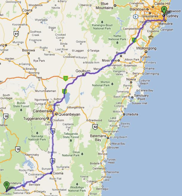 Sydney to Snowy Montain
